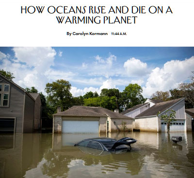 How Oceans Rise and Die on a Warming Plane
